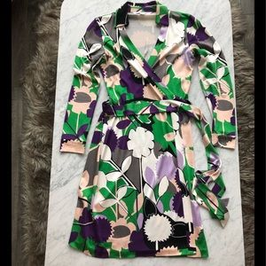 DVF Collared Silk Wrap Dress